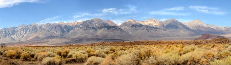 desert mountains in Nevada
